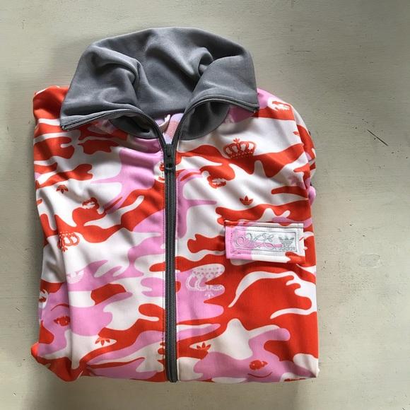 4cc82b307d89 adidas Jackets   Blazers - Adidas Missy Elliot Camouflage Pink Orange Jacket